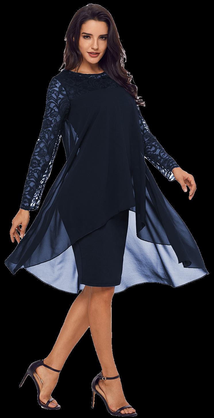 b28c3b1706b0 Haljine i tunike  Ženska haljina Alexina - tamno plava